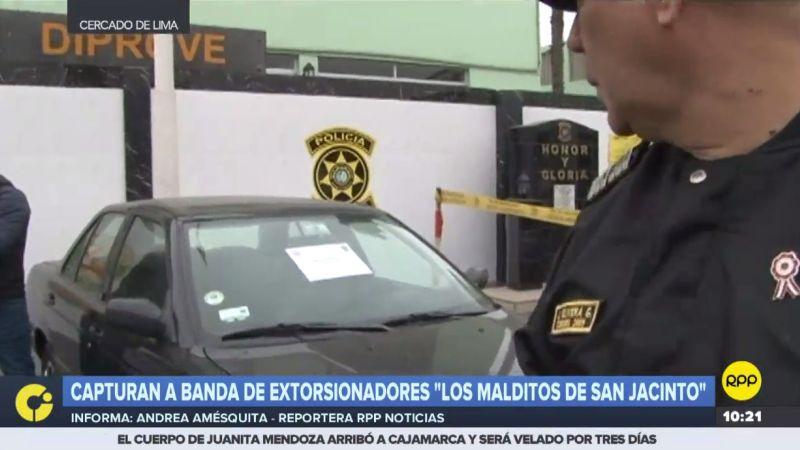Los miembros de esta banda habían robado un automóvil y estaban extorsionando al dueño.