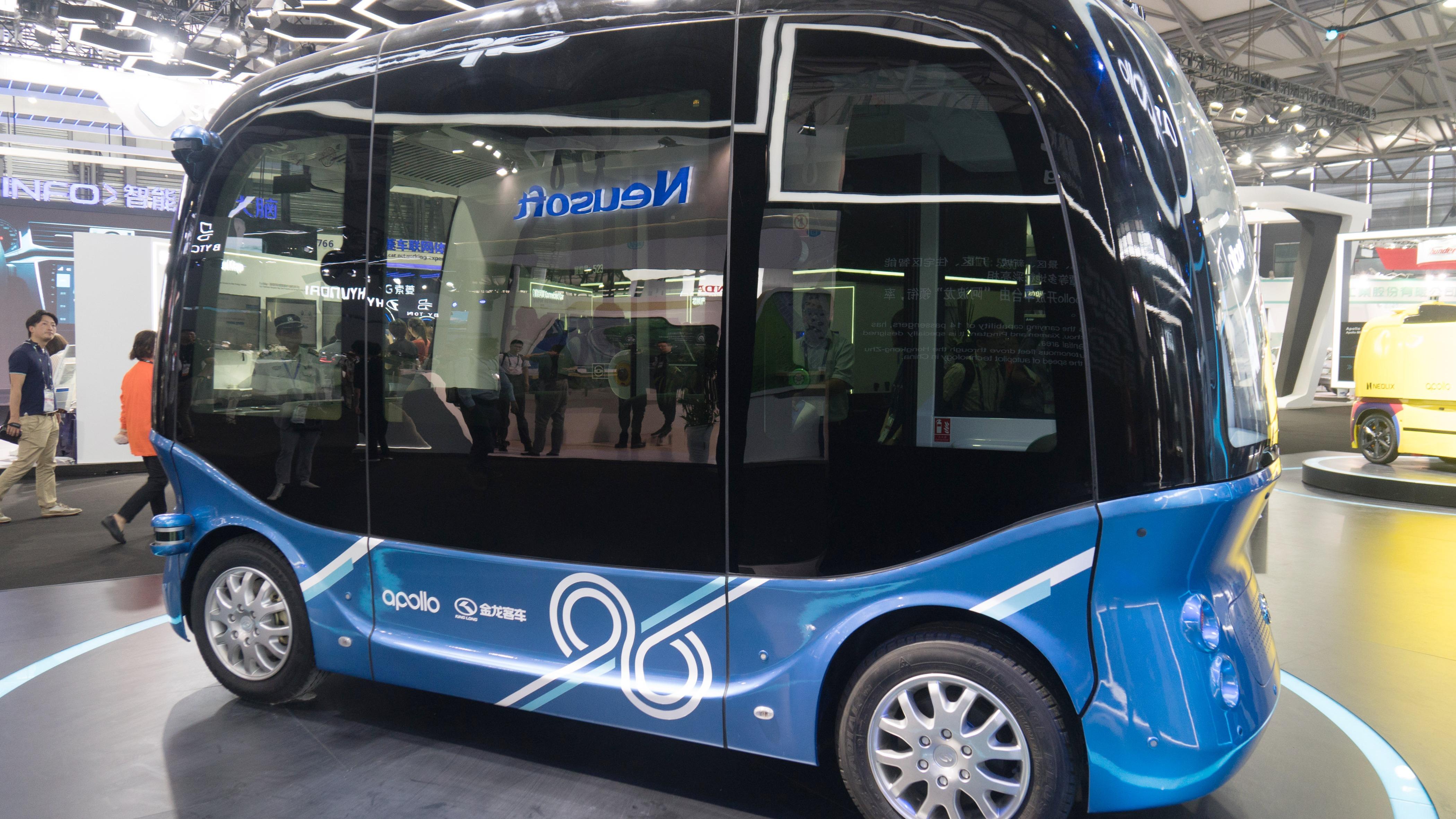 Estos buses pueden operar en lugares cerrados sin intervención humana.