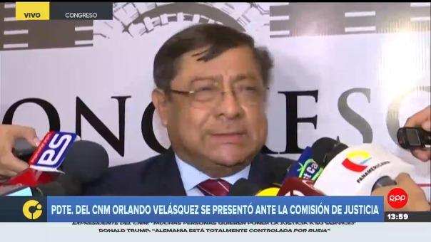 Presidente del Consejo Nacional de la Magistratura (CNM), Orlando Velásquez.
