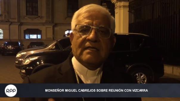 El presidente de la Conferencia Episcopal, Monseñor Miguel Cabrejos, se pronunció sobre la reunión.
