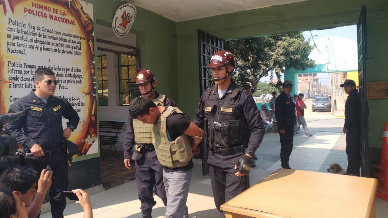 Rony Manuel Prada Clavo (31), es ingresado a la carceleta de la Comisaría Sectorial de Ferreñafe.