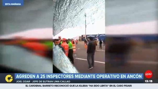 Inspectores de Sutran fueron agredidos con palos y piedras durante un operativo de fiscalización contra el transporte público informal.