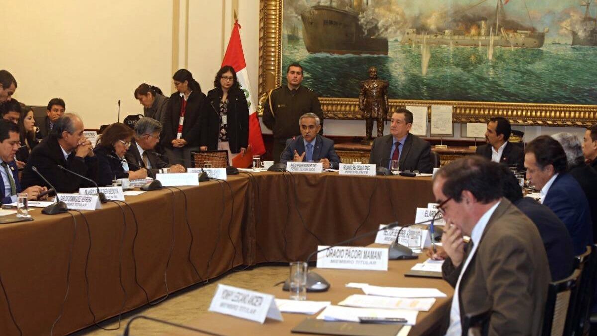 Presidente del PJ se presentó ante la Comisión de Fiscalización del Congreso de la República.