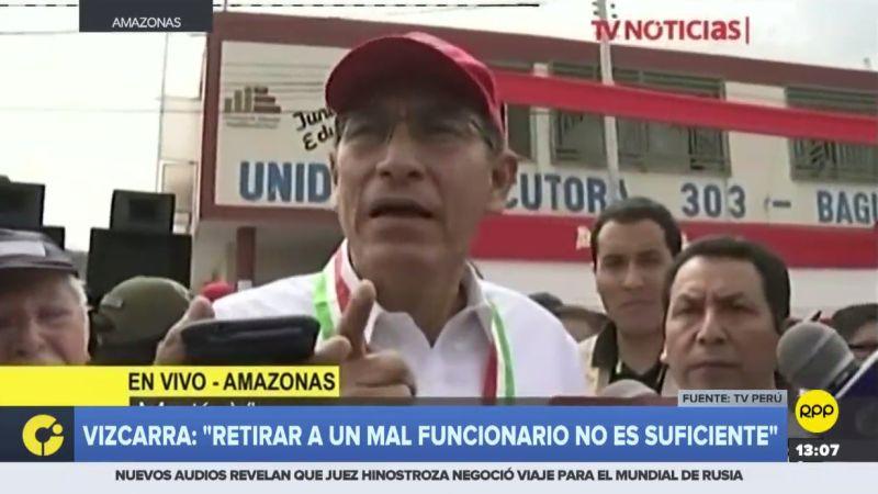 Martín Vizcarra tildó de vergonzosos los audios difundidos por IDL Reporteros.