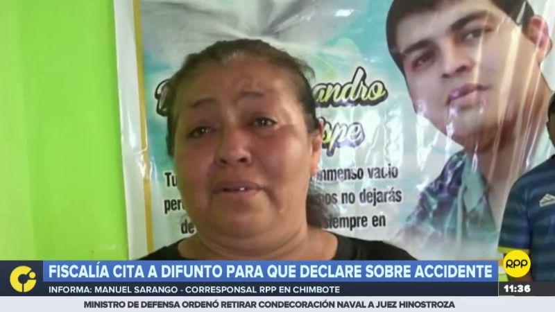 """""""No se pueden burlar de esta manera de mi hijo"""", dijo entre lágrimas la madre del fallecido."""