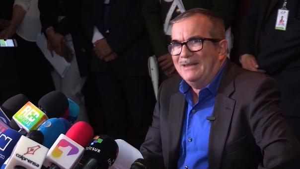 Declaración de 'Timochenko' en la audiencia de la Jurisdicción Especial para la Paz en Bogotá.