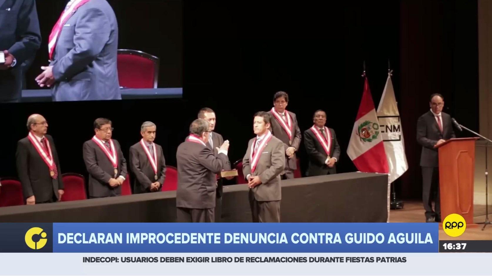 Declaran improcedentes denuncias contra Guido Aguila.