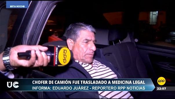 El chofer del camión, David Carazas del Pozo, declaró para RPP Noticias.