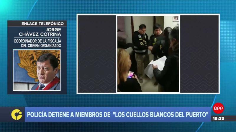 Jorge Chávez Cotrina dio a RPP Noticias detalles del caso Los Cuellos Blancos del Puerto.
