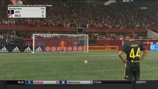 Repasa la tanda de penales de la contienda entre MLS All Stars vs. Juventus.