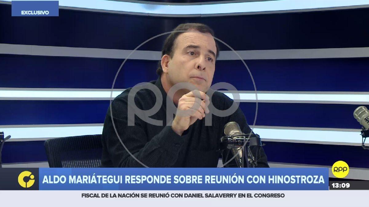 Aldo Mariátegui se pronuncia tras revelarse que se reunión con César Hinostroza.