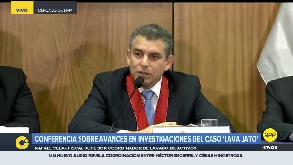 El fiscal Rafael Vela dijo que el despacho Lava Jato no estuvo enterado, en inicio, de que el expresidente Kuczynski quería salir a Estados Unidos.