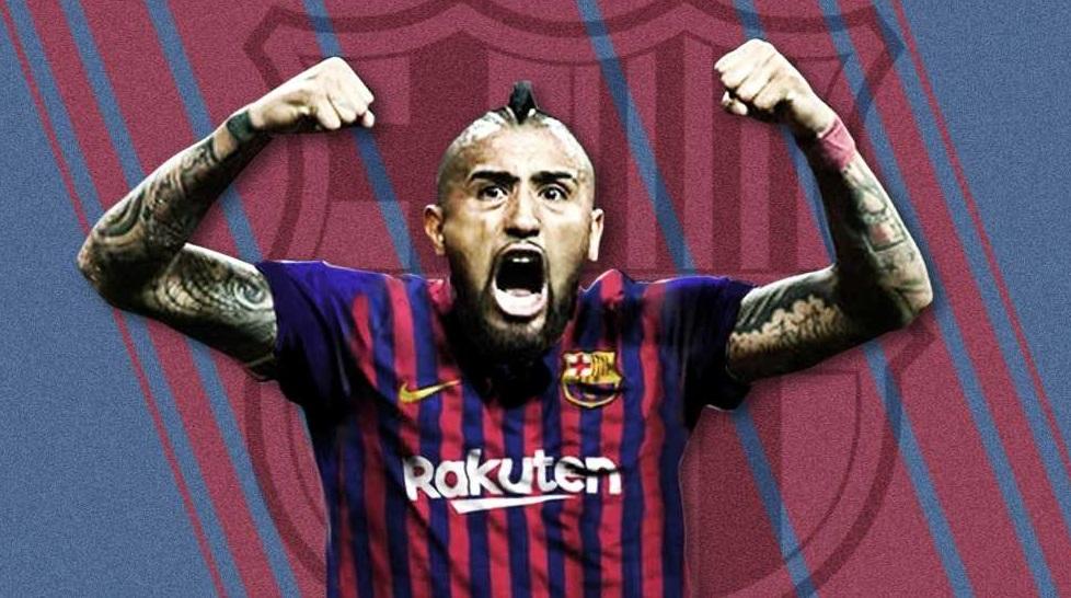 Arturo Vidal llegó a Barcelona.