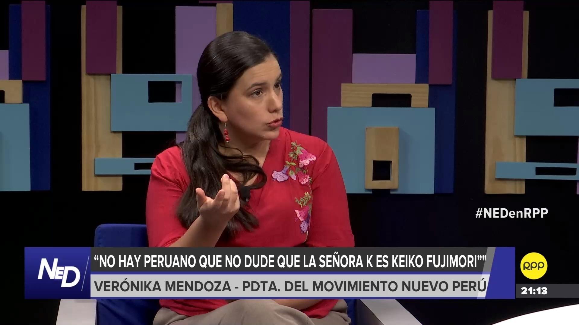 La lideresa de Nuevo Perú aseguró que la población debe presionar para que el referéndum sea aceptado.