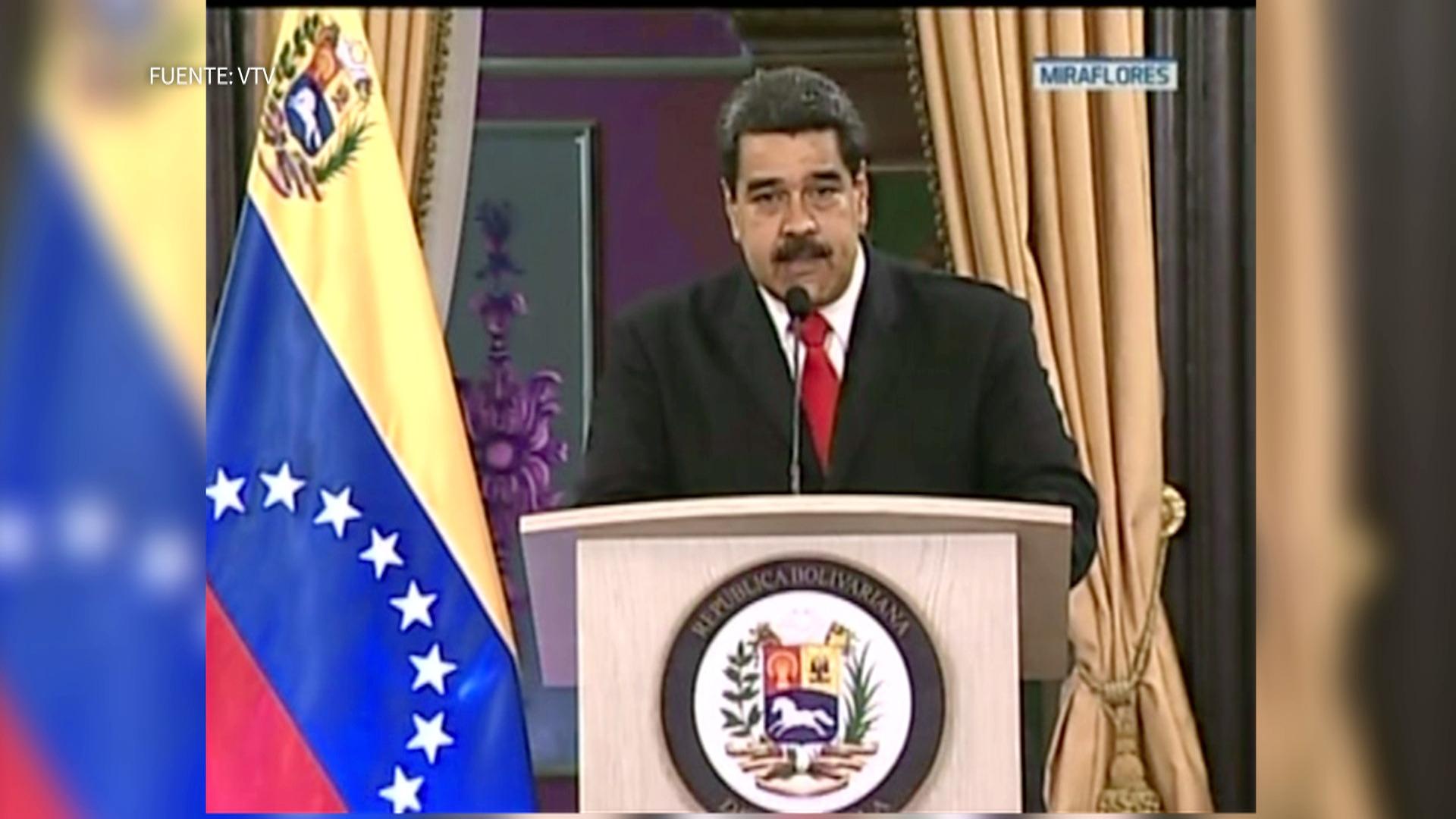 Maduro dio un mensaje a los venezolanos explicando los hechos ocurridos este sábado.