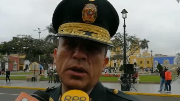 El jefe policial de La Libertad César Vallejos.