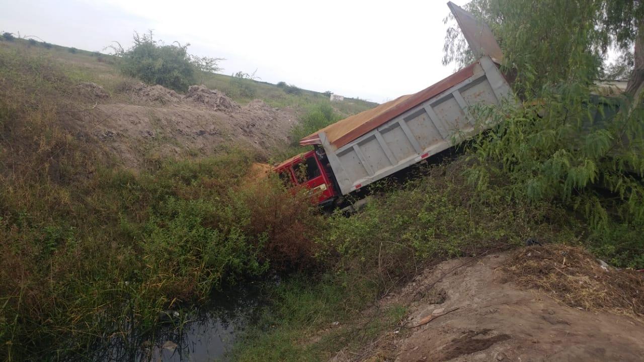 Camión se despistó