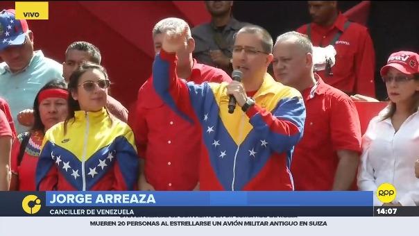 Ministro de Relaciones Exteriores de Venezuela Jorge Arreaza insiste en que Estados Unidos y Colombia tienen que ver con el fallido atentado a Maduro