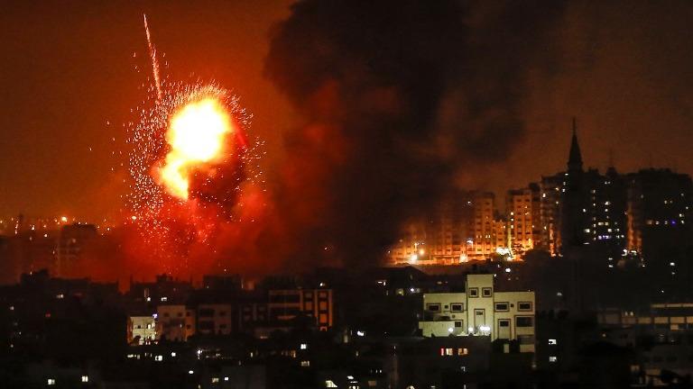 Bombardeos del Ejército de Israel contra la Franja de Gaza.