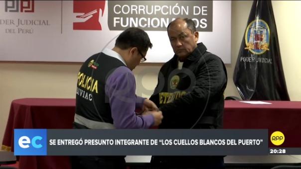 Se trata de Alejandro Seminario Arteta. Tras entregarse fue conducido a la sede del Sistema Nacional Anticorrupción y luego al Ministerio Público del Callao.