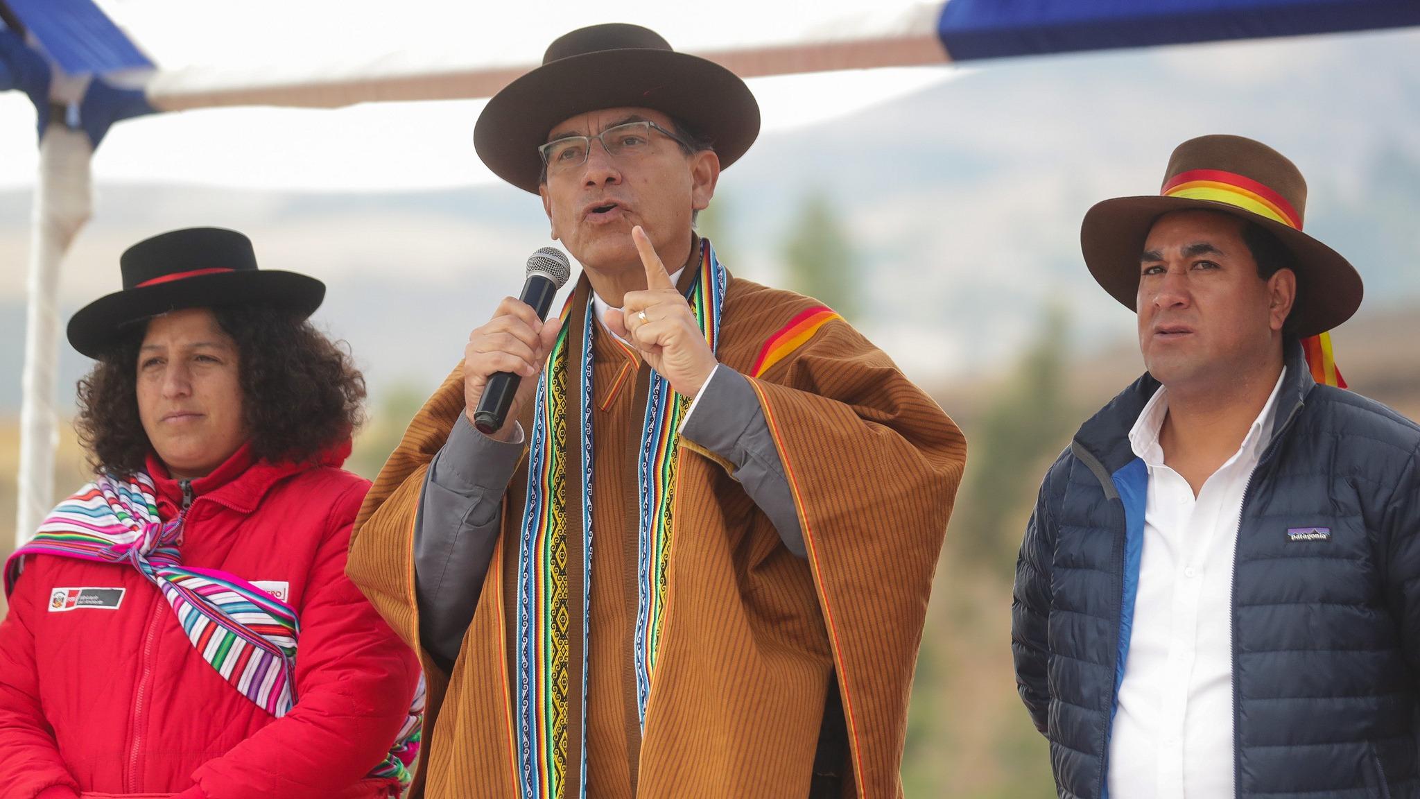 El presidente de la República se encuentra en Andahuaylas inspeccionando las obras de saneamiento.