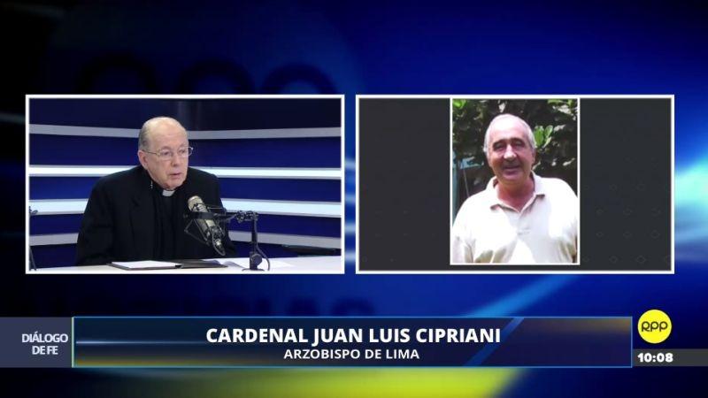 El cardenal se refirió al asesinato de Carlos Riudavets en su programa de RPP Noticias.