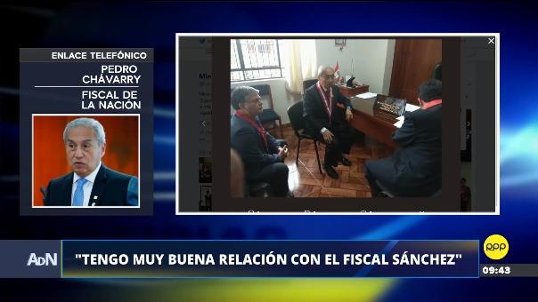 El Fiscal de la Nación, Pedro Chávarry, dijo que tiene