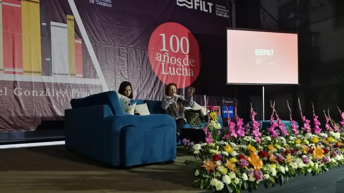 La FILT 2018 sirve de espacio para la presentación de la creación de la mujer, destacó la presidenta ejecutiva de la feria, Rosa Benites.