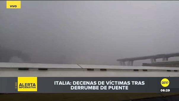 Las imágenes de la caída del puente