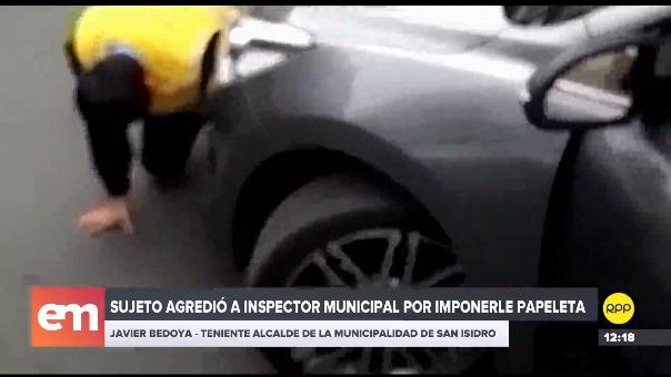 Un inspector fue arrollado por el auto del sujeto que intentó huir del lugar.
