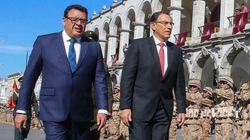 Martín Vizcarra presidió la ceremonia por el 487 aniversario de fundación de Arequipa.