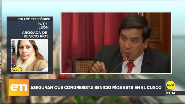 Ruth León, abogada de Benicio Ríos.