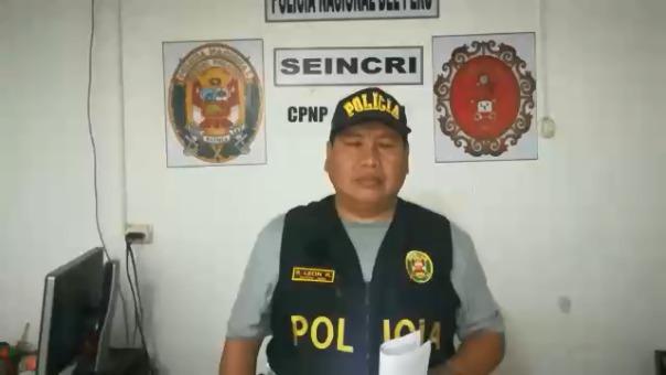 Jefe de la comisaría de Cayaltí, mayor Roy León Rivera.