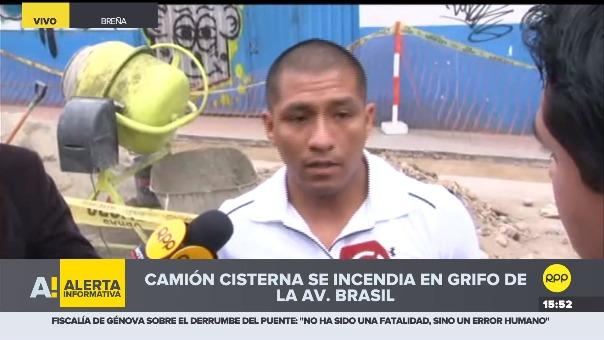 Pablo Carbajal, dueño del automóvil que también fu consumido por el fuego, contó como se inició la emergencia.