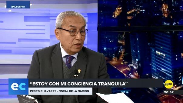 Pedro Chávarry dijo que su hijo tiene todas las credenciales para trabajar en el CNM.