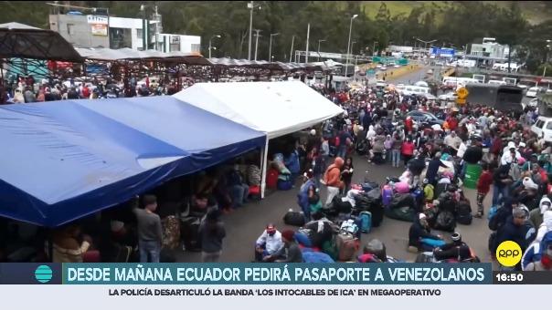 Desde mañana, Ecuador pedirá pasaporte a ciudadanos venezolanos.