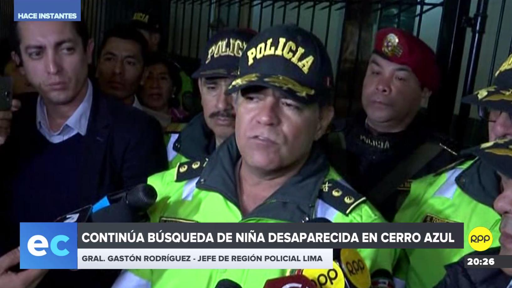 Continúa la búsqueda de niña desaparecida en Cañete.
