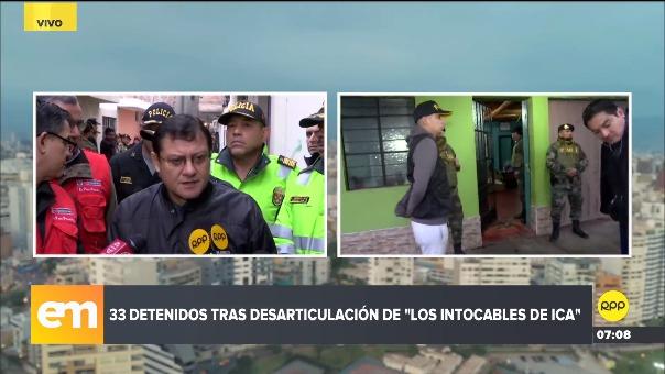 Detalles del operativo para desarticular a 'Los Intocables de Ica'