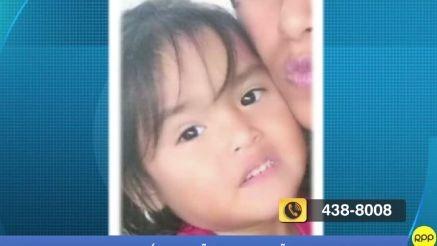 Denuncian la desaparición de una niña de casi tres años.