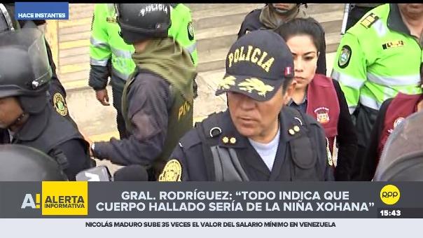 Policía recuperó el cuerpo de una niña.