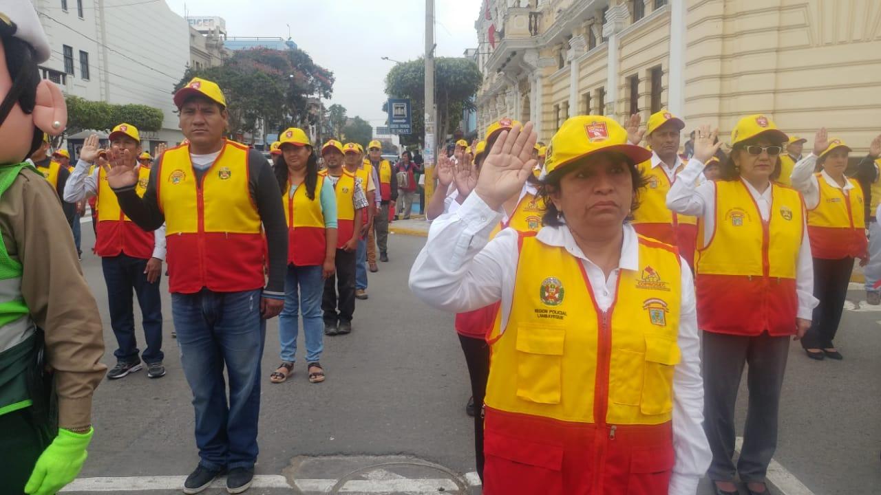 Hasta Chiclayo, los integrantes de las juntas vecinales conformadas en los 38 distritos de la región.