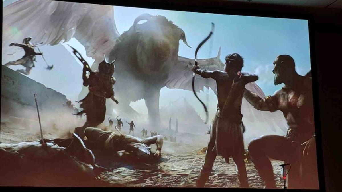 La apariencia de Kratos es muy similar a la actual.