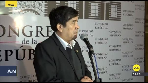 Benicio Ríos en el Congreso.