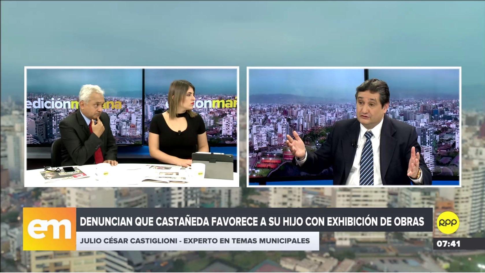 Especialista en temas electorales Julio Castiglioni en RPP Noticias.