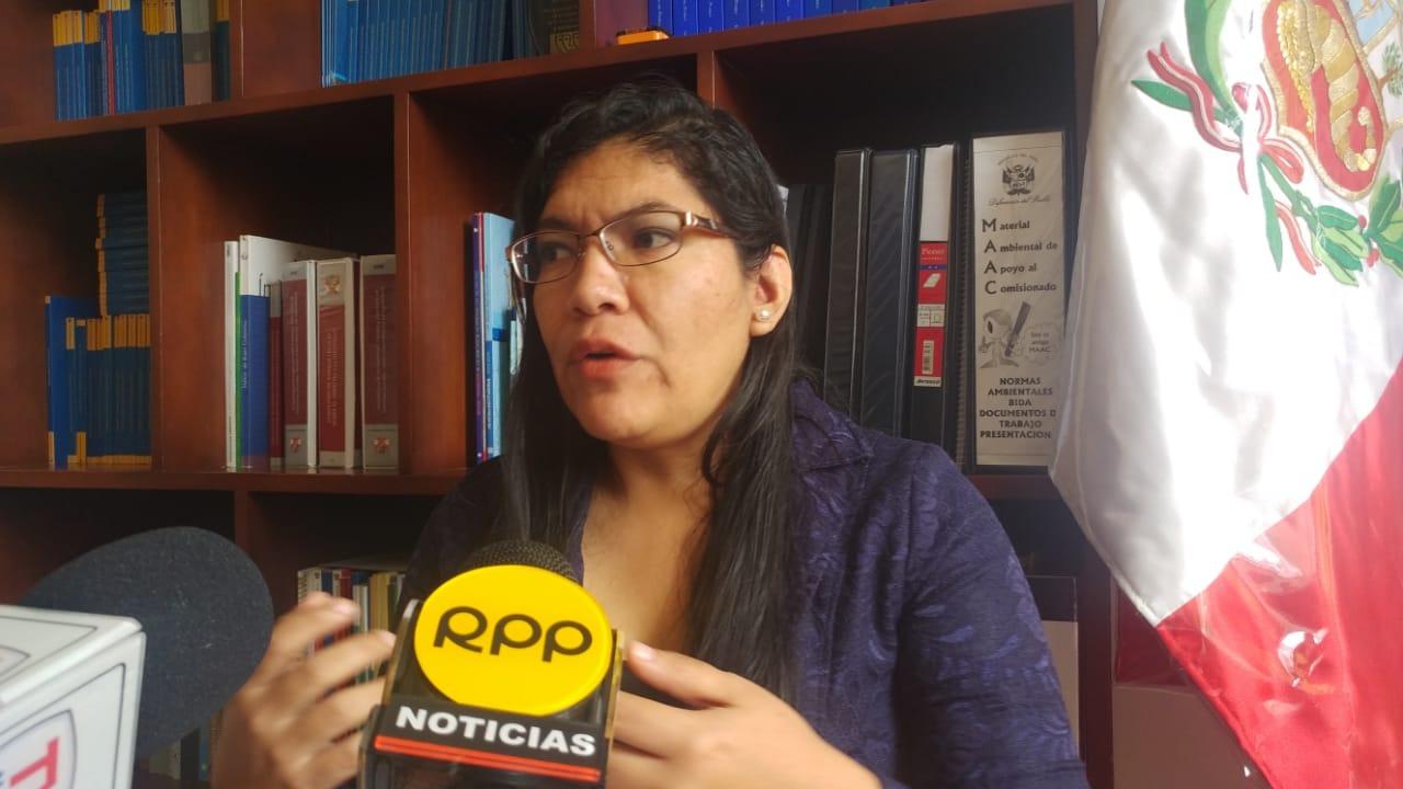 Comisionada de la oficina defensorial, Dra. Evony Gómez.
