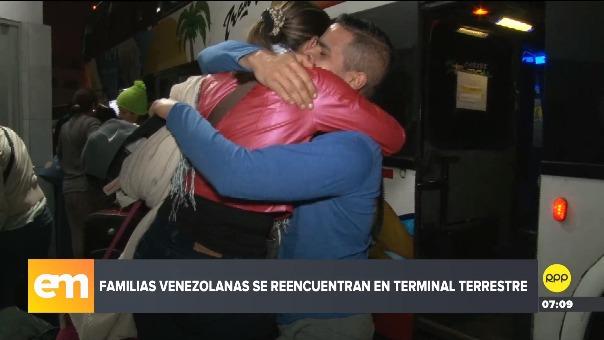 Familias venezolanas en Lima