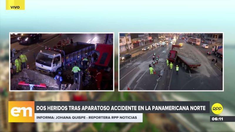 Los automóviles se vieron obligados a tomar las vías auxiliares de la Panamericana Norte.