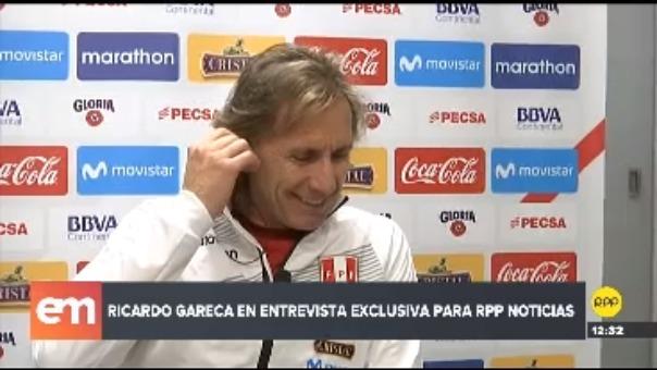 Ricardo Gareca en entrevista con RPP Noticias.