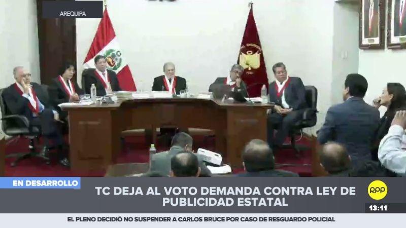 La sesión del TC se realizó en Arequipa.