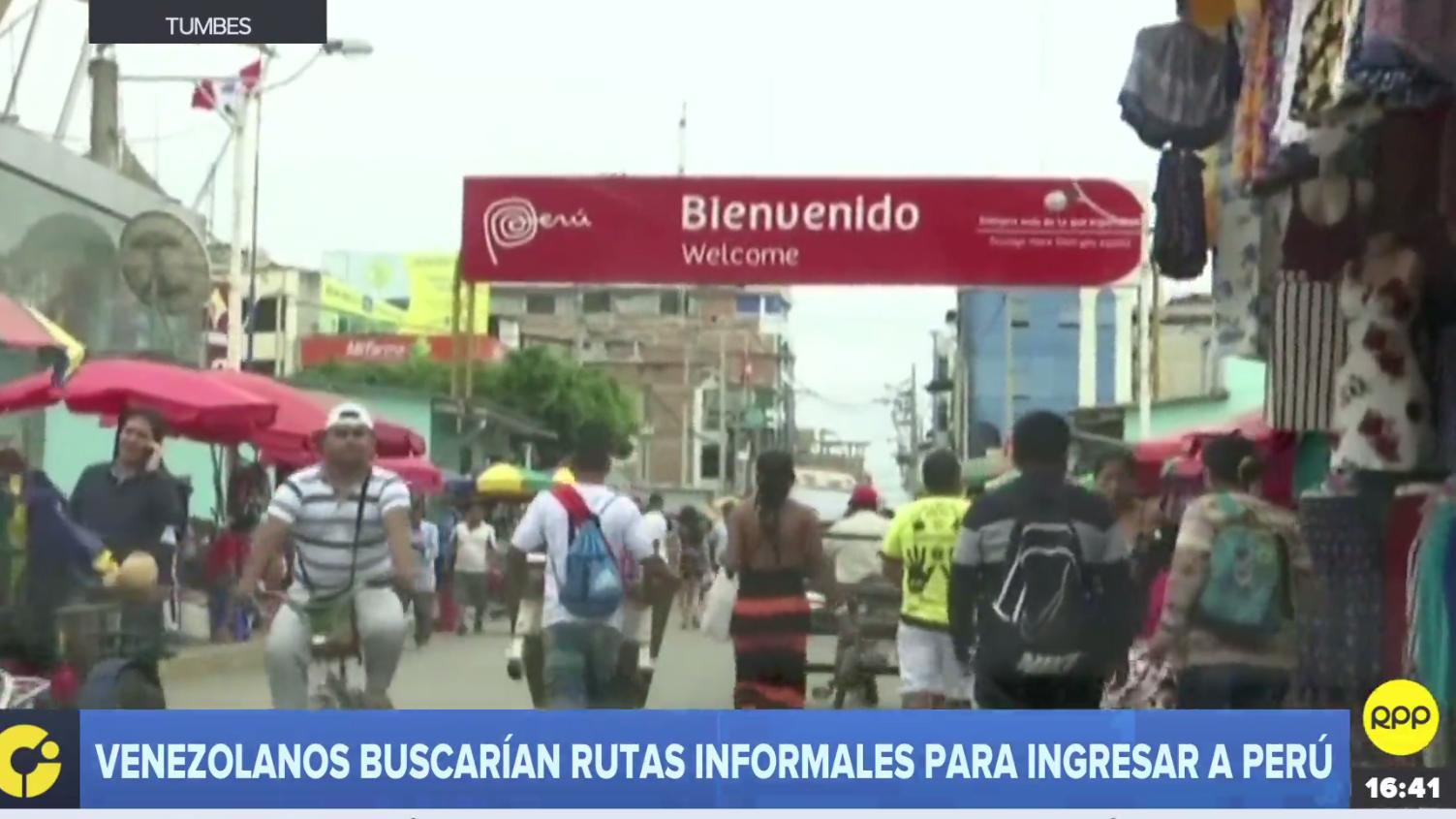 Ciudadanos venezolanos podrían usar rutas informales para ingresar al Perú.